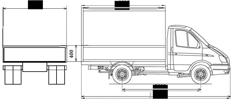 схема а м газель 3302 бортовая